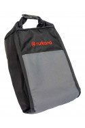 Turkana gear Bushbaby 3L adventure enduro roll top pouch with MOLLE straps to be used on motorcycle soft luggage systems.