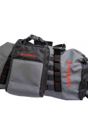 Configure motorcycle luggage for added storage adventure trips