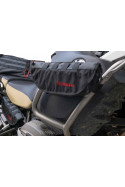 PelliPouch Turkanagear handle bar motorcycle luggage, frame bag pouch valuable items easy access. Attach anywhere on bike