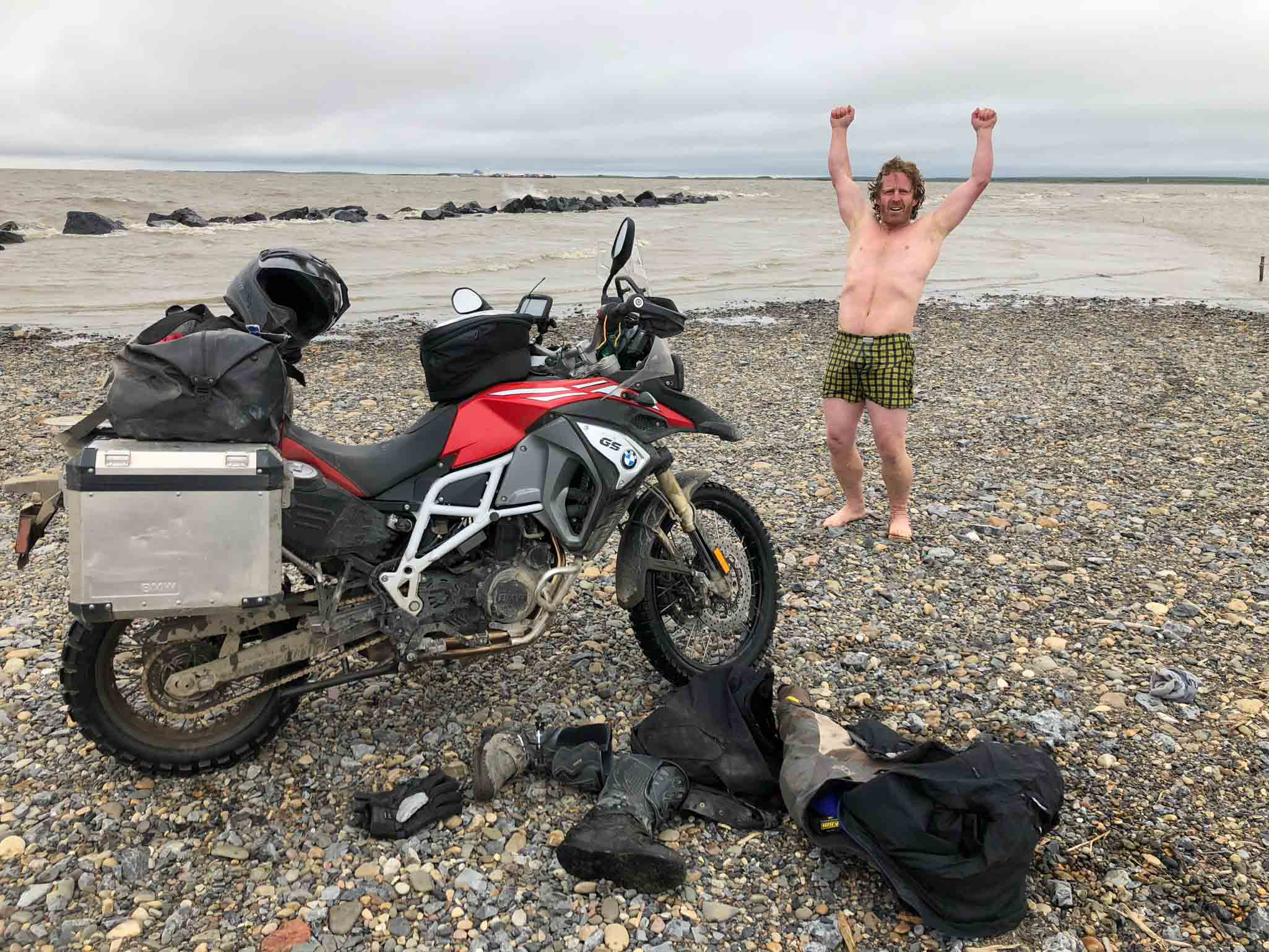 Mission accomplish, as with the HippoHips Turkana motorcycle adventure water and dustproof luggage they will carry gear to every corner of the globe